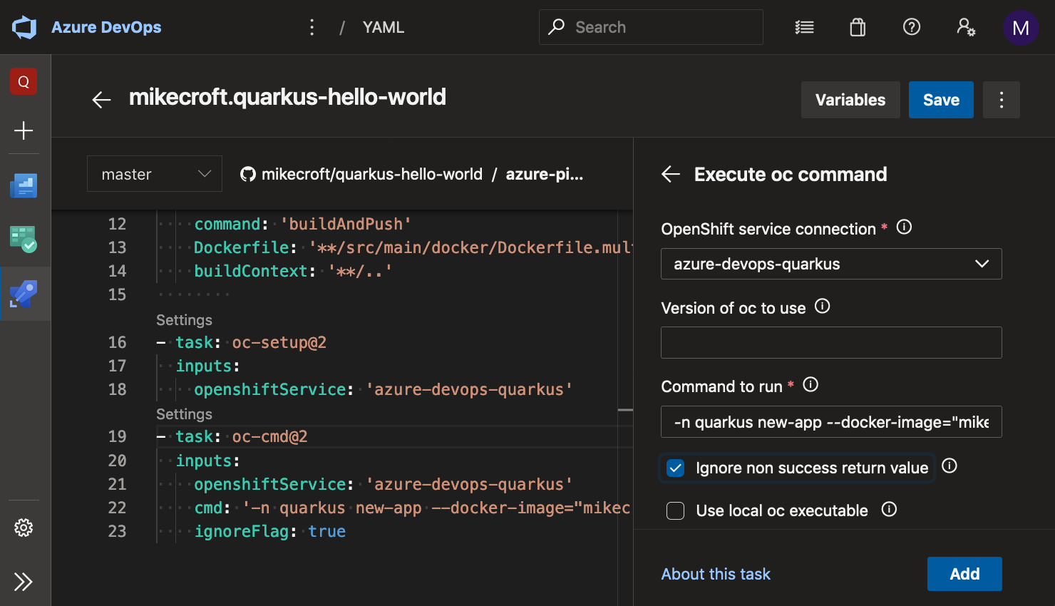 add openshift task