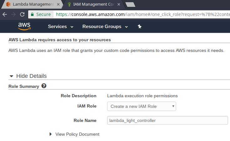 IAM role creation